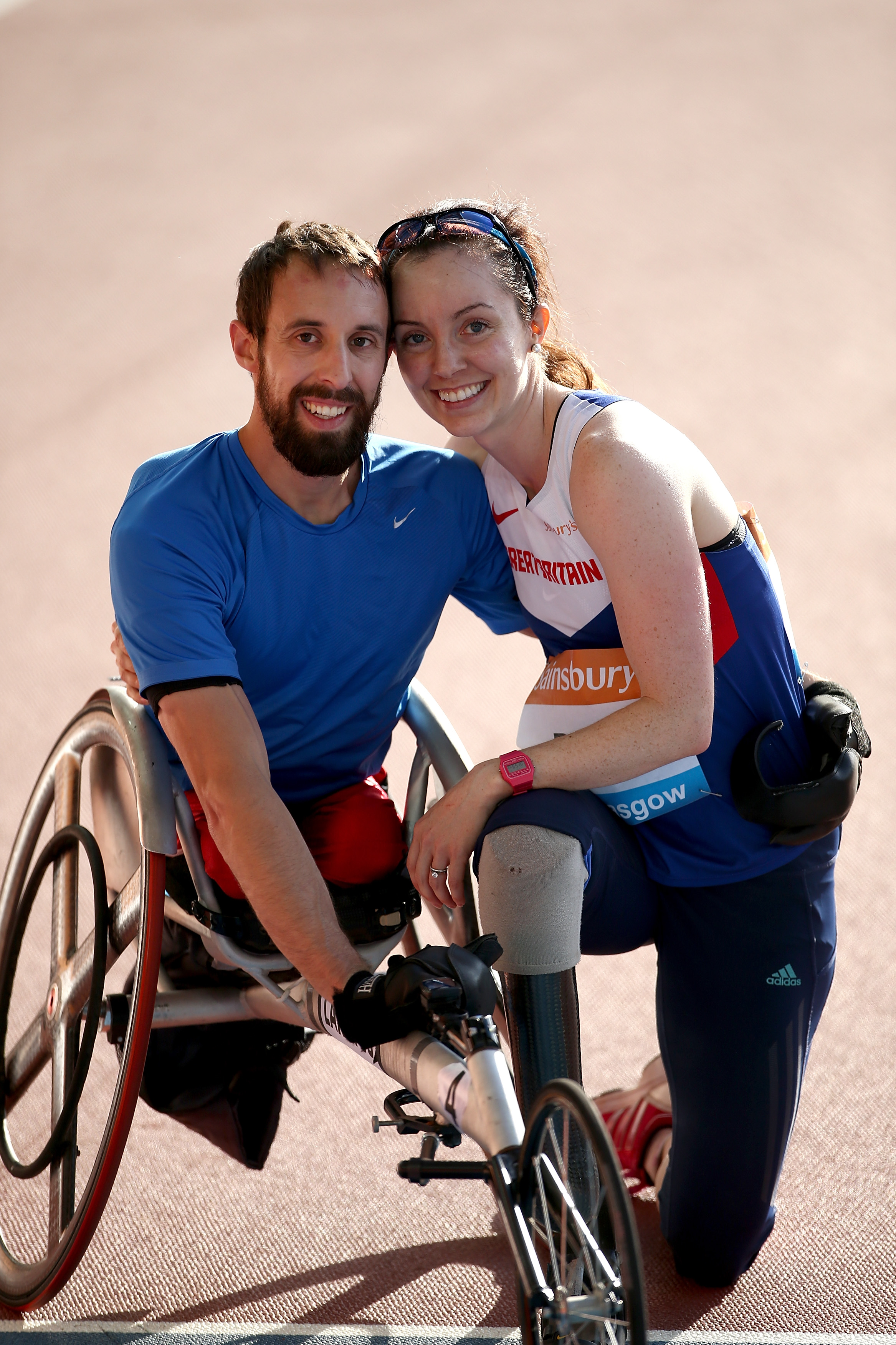 Stef with husband and world record holder Brent Lakatos