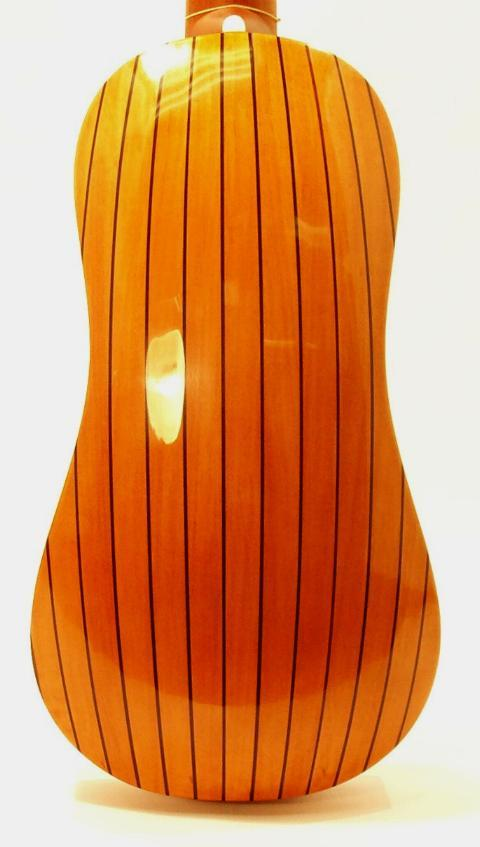 Pear with rosewood stripes back