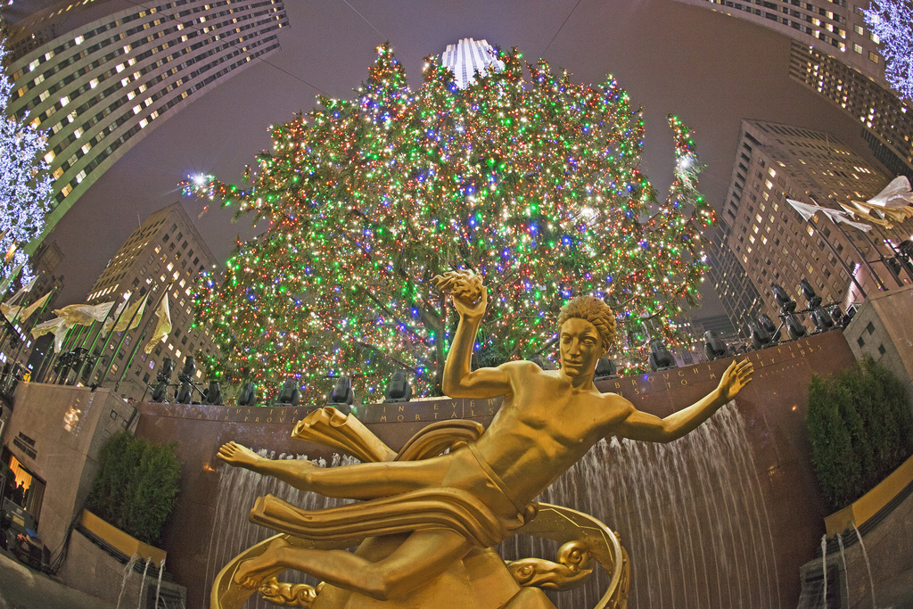 It's hard not to be in awe of a Holiday Tree that dwarfs Prometheus (Source: https://www.flickr.com/photos/quintanomedia/)