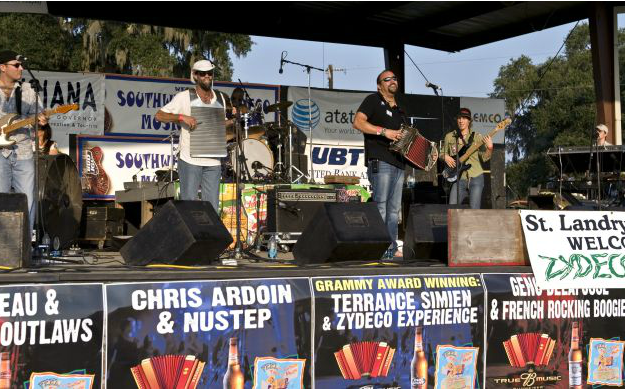 Plaisance is also the seat of the oldest and longest-running Zydeco festival, a  creole musical genre  that surged in popularity during Collin's childhood.