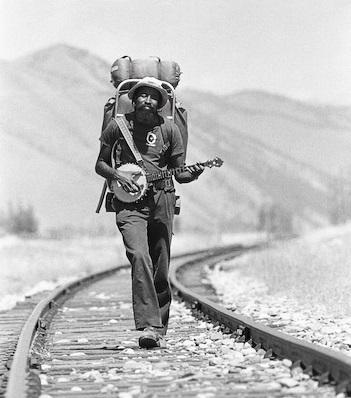 John Francis on his way to the University of Montana passes through Idaho. ( source )