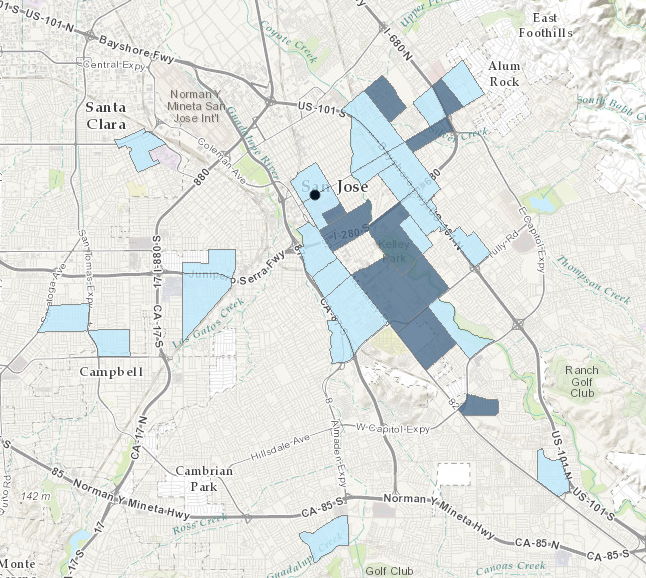 DAC tracts are based off of 2009-13 US Census. Learn more at: gis.water.ca.gov/app/dacs/
