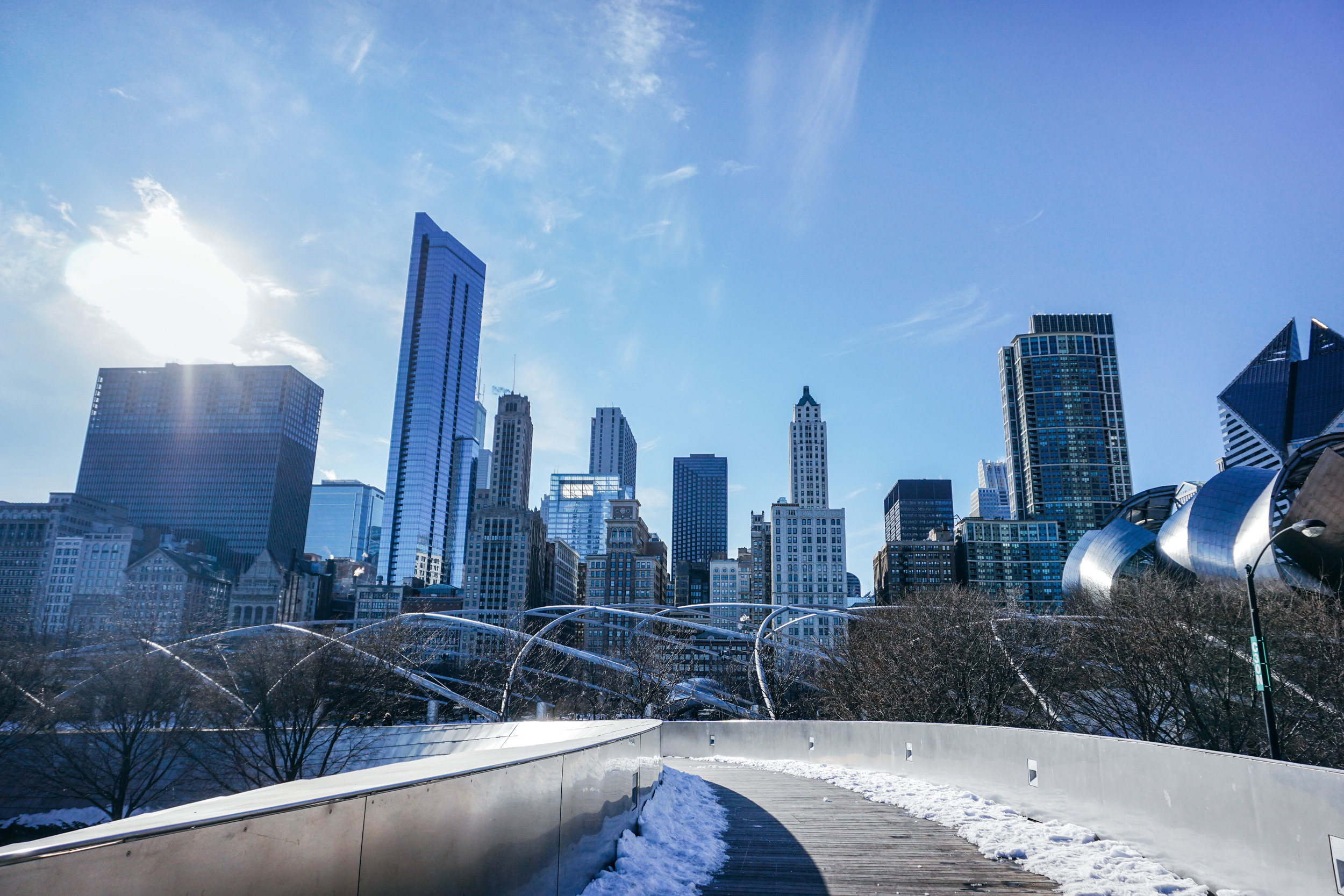 Millennium Park, Skyline. Navy Pier Chicago. United States of America
