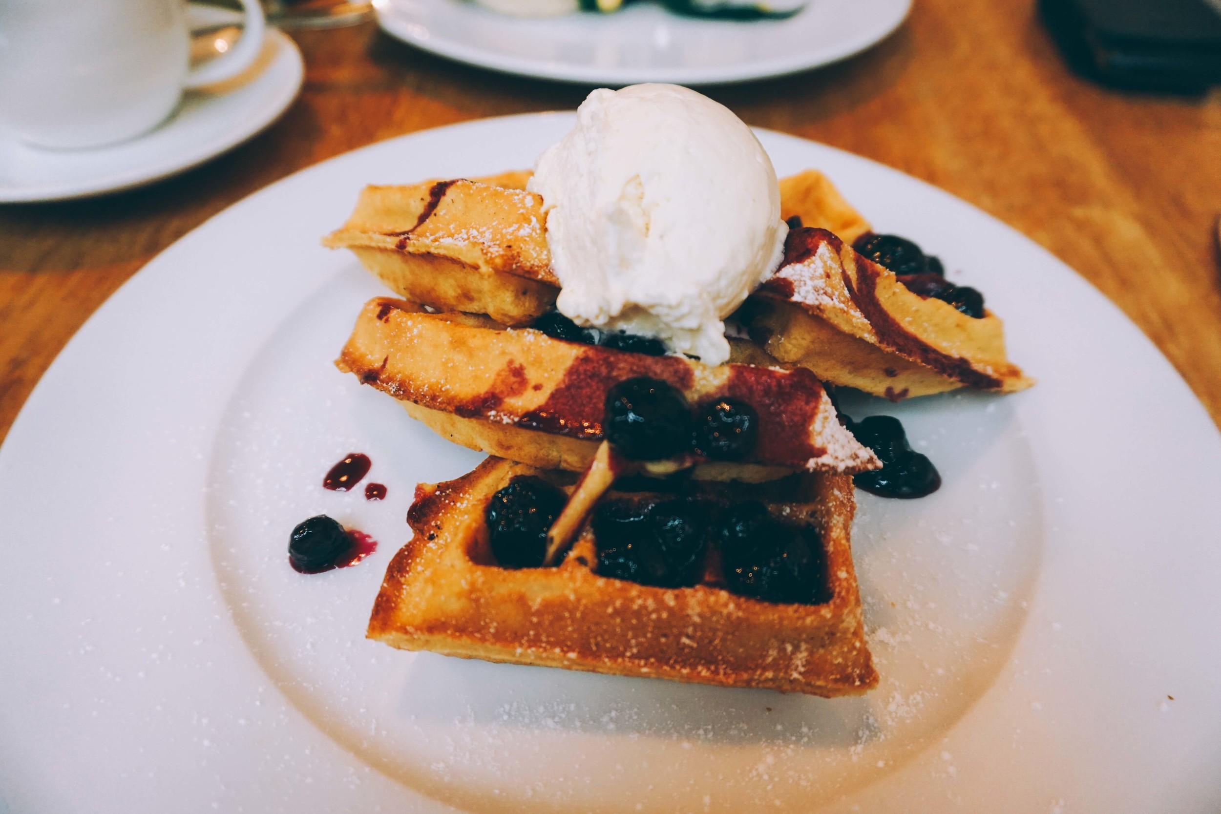 Tom's Kitchen, Chelsea. Waffles
