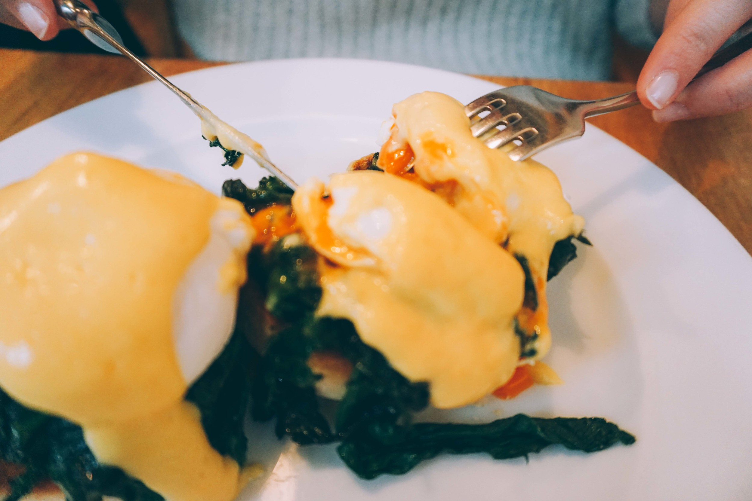 Tom's Kitchen, Chelsea. Eggs Benedict.
