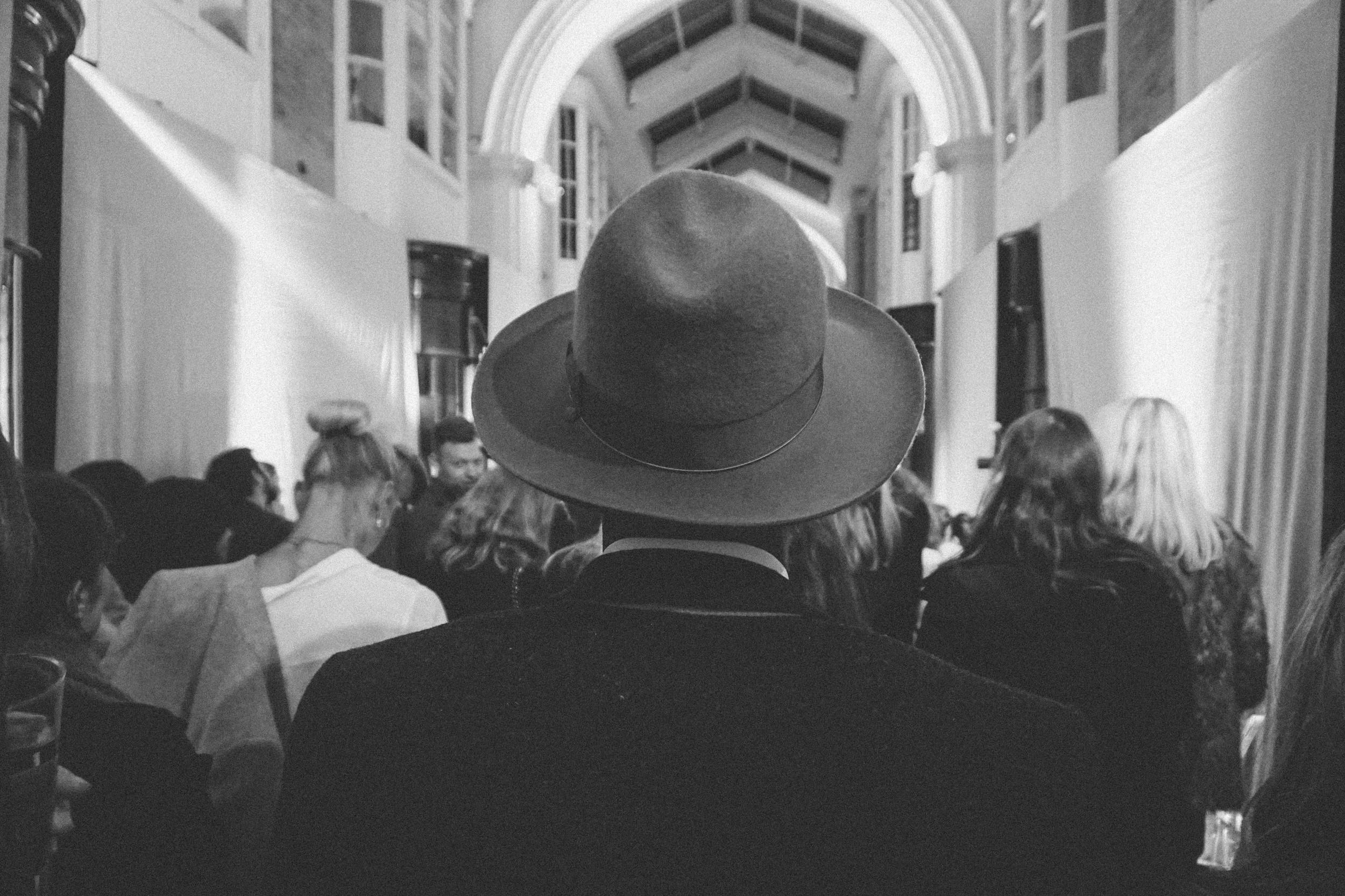 Cool hat at the Manolo Blahnik Burlington Arcade, Mayfair.