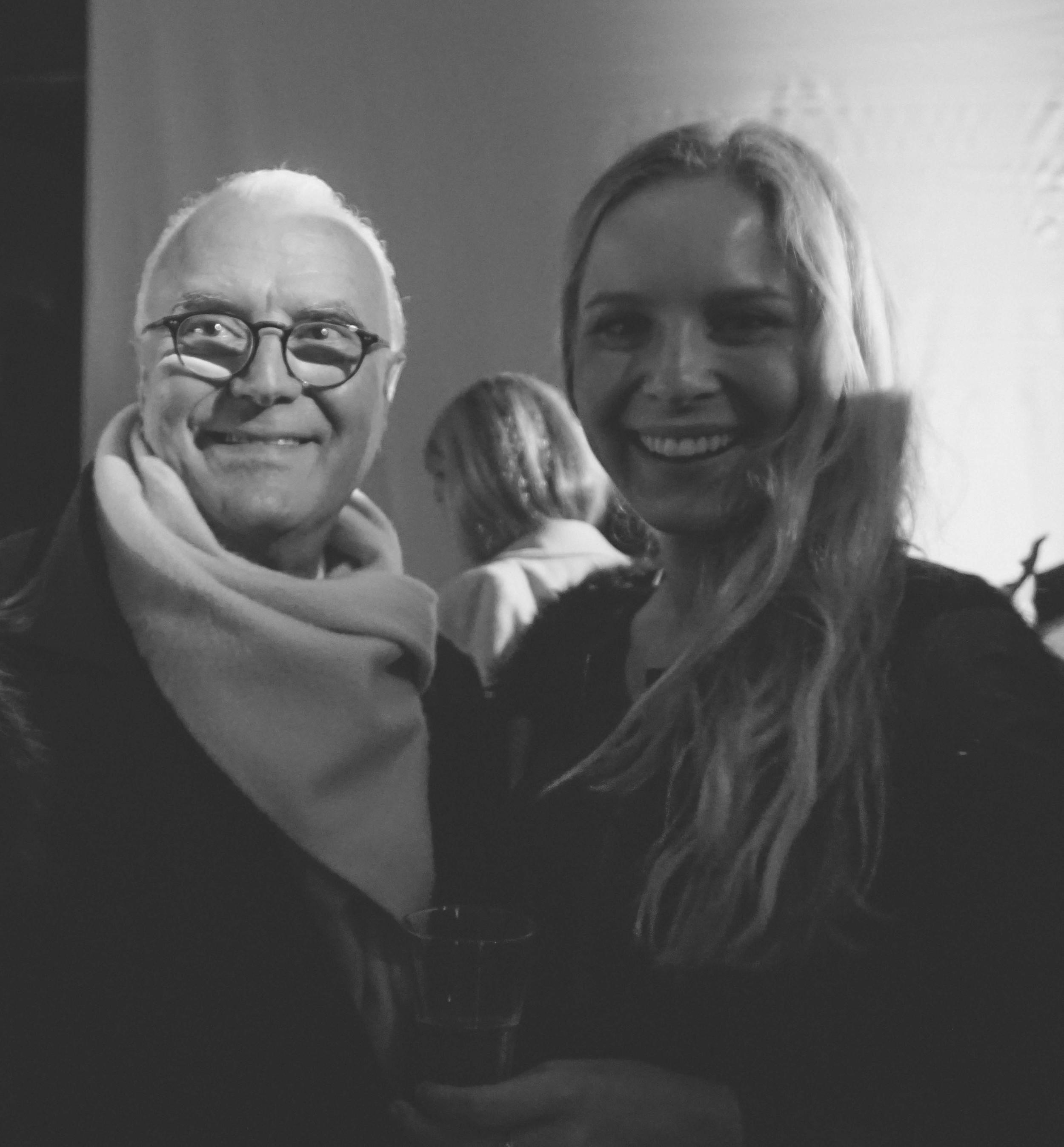 Kat Caprice meeting Manolo Blahnik.