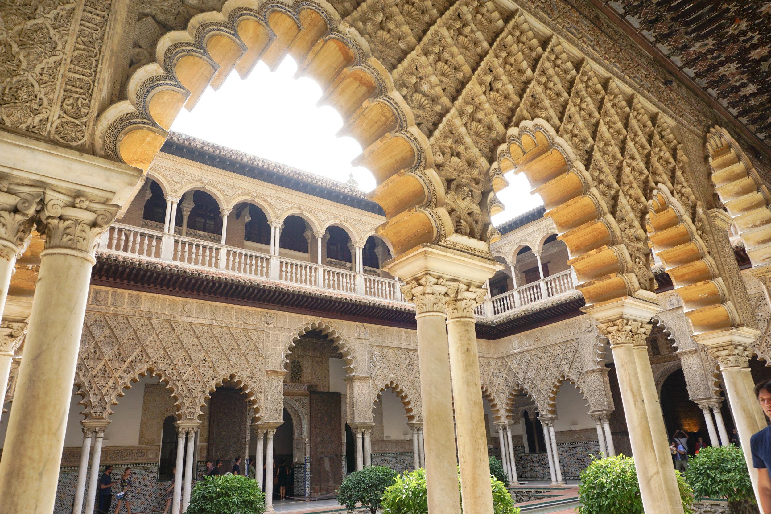 Alcazar, El Real Alcazar Spain. Top 5 places to visit in Seville.