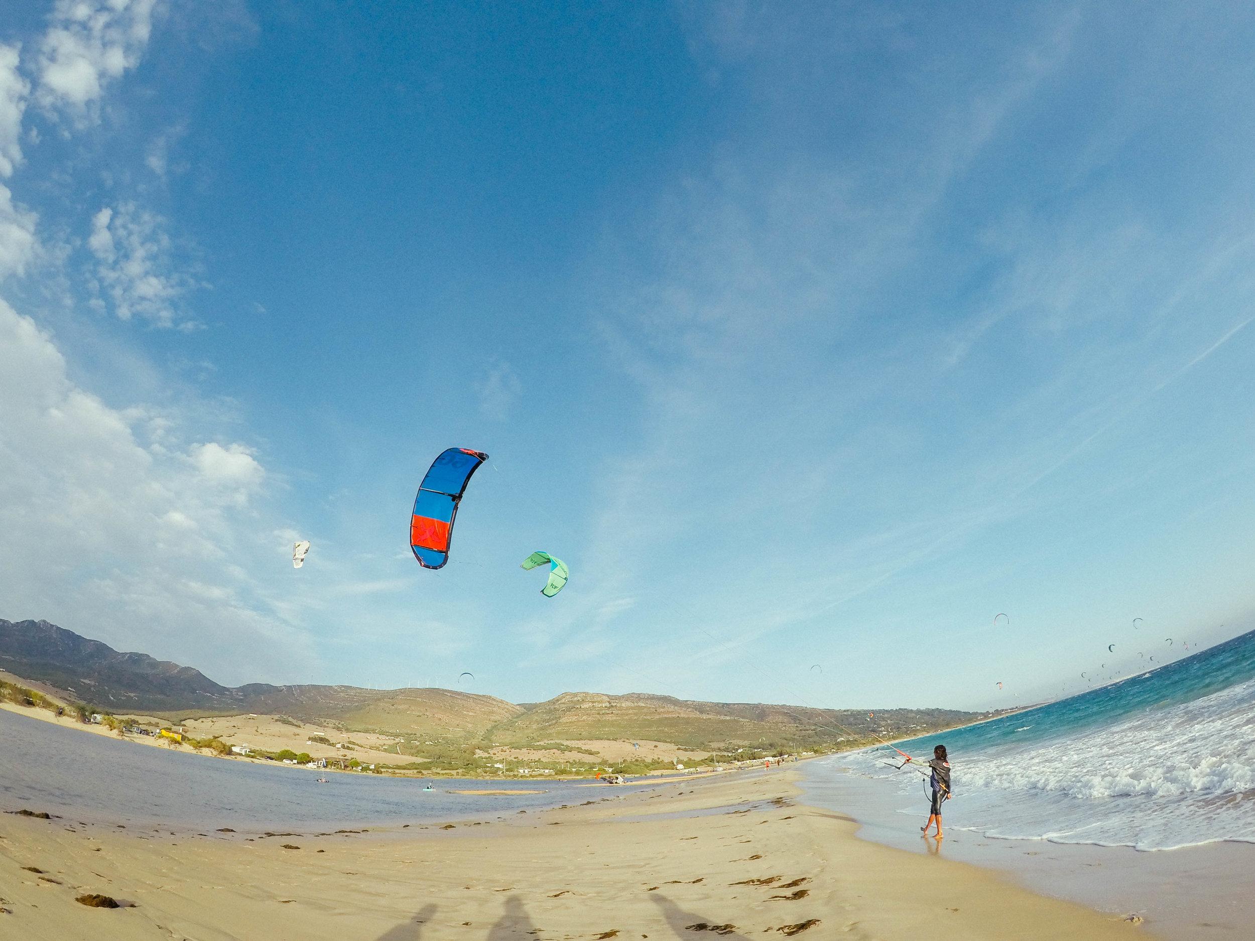 Kitesurfing Tarifa, Spain.