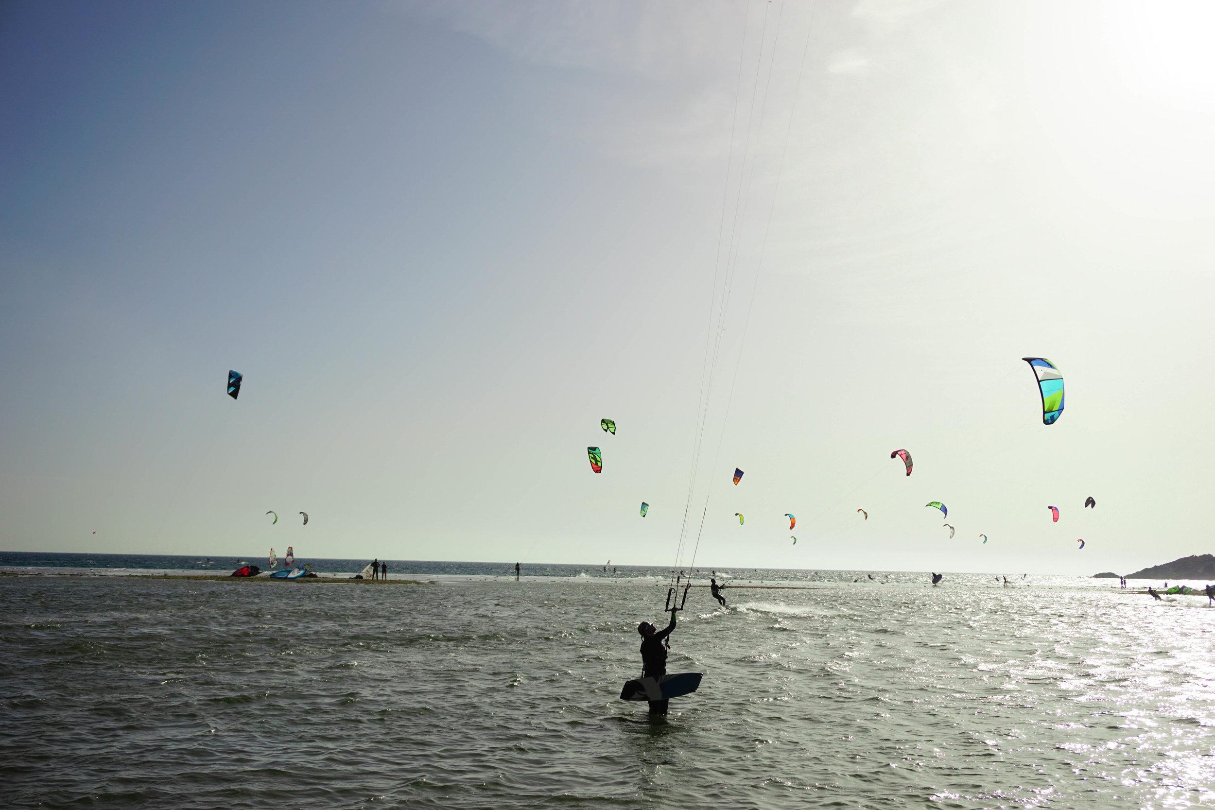 Kitesurfing in Tarifa.