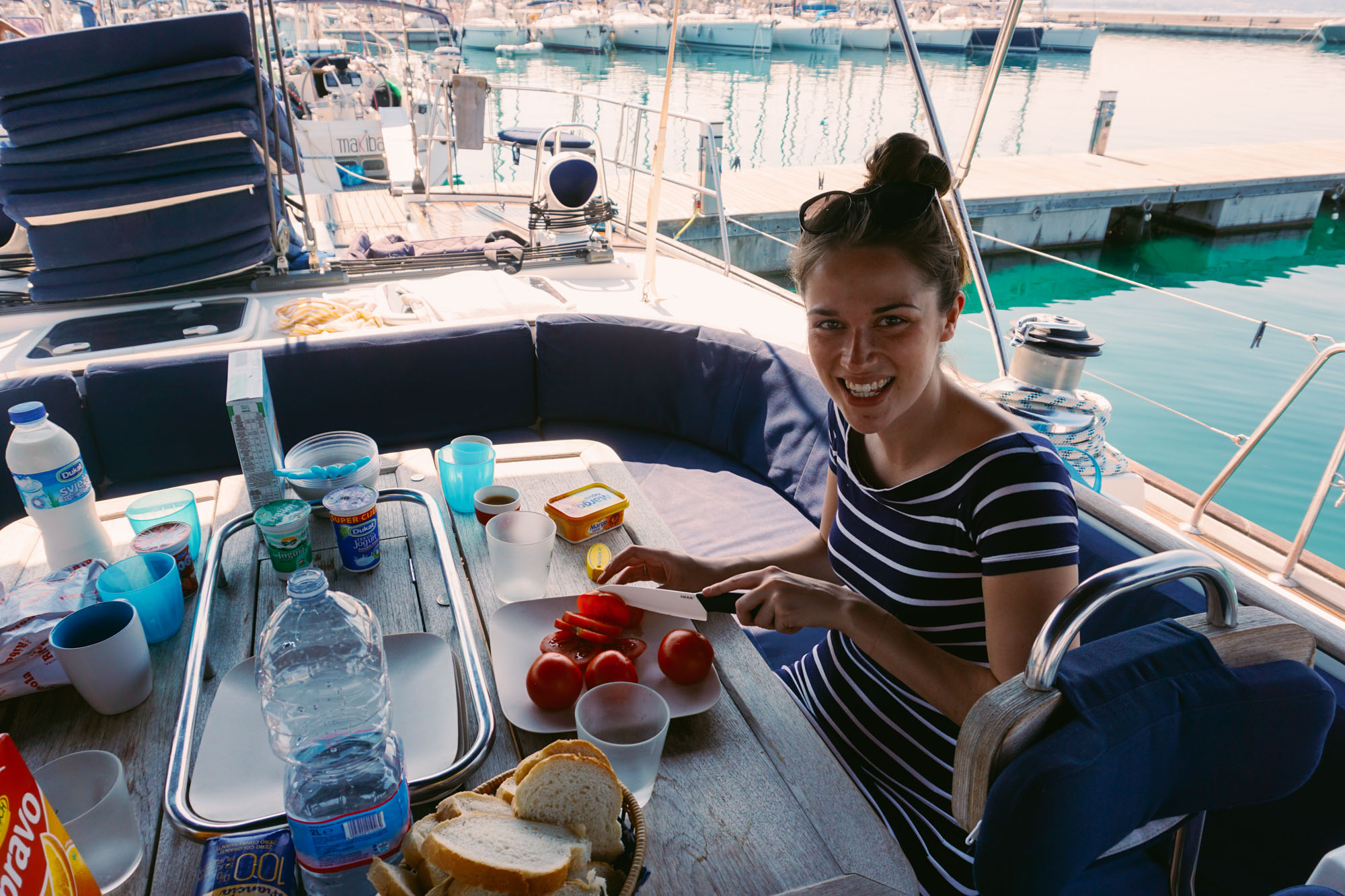 Lucy on a yacht in Croatia