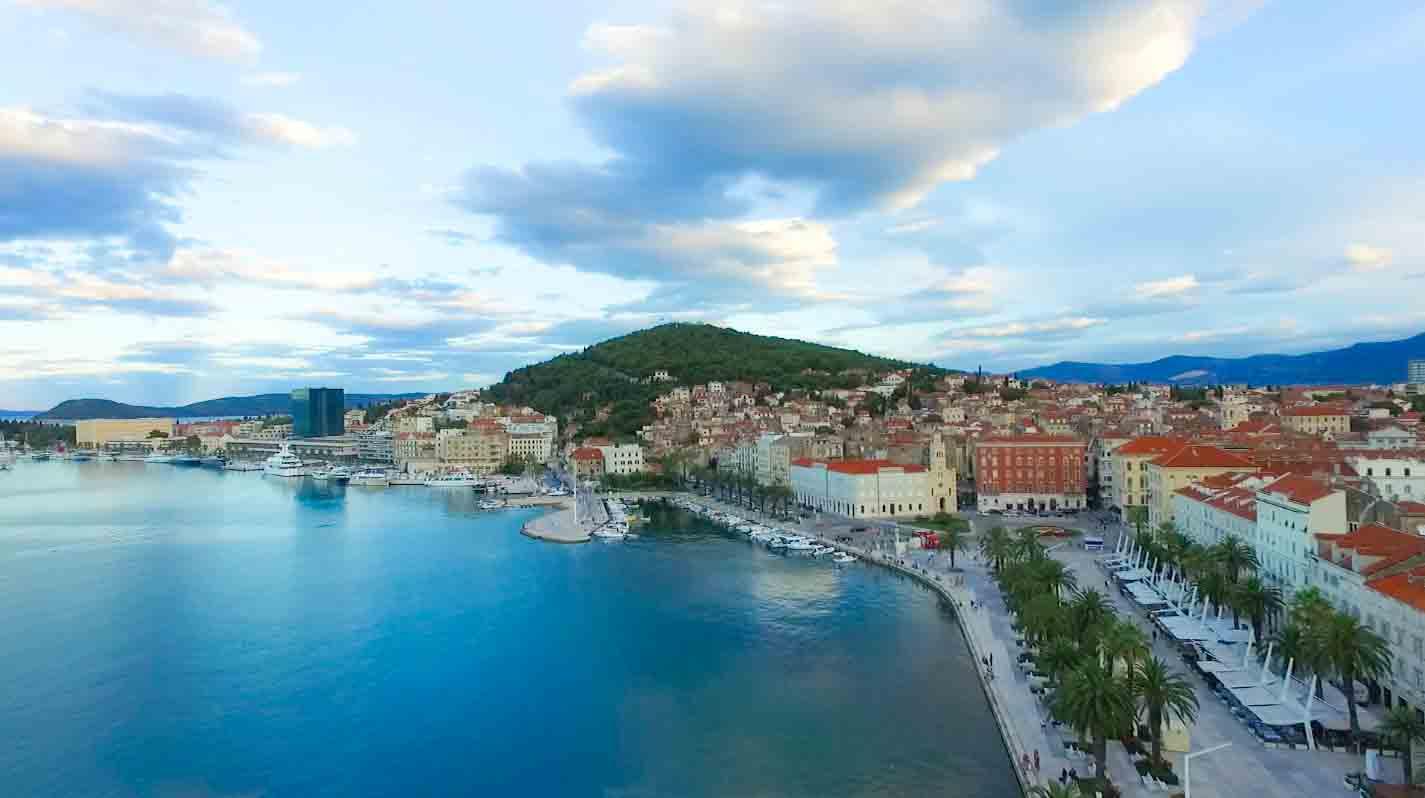 Drone photography of Croatia (Split)