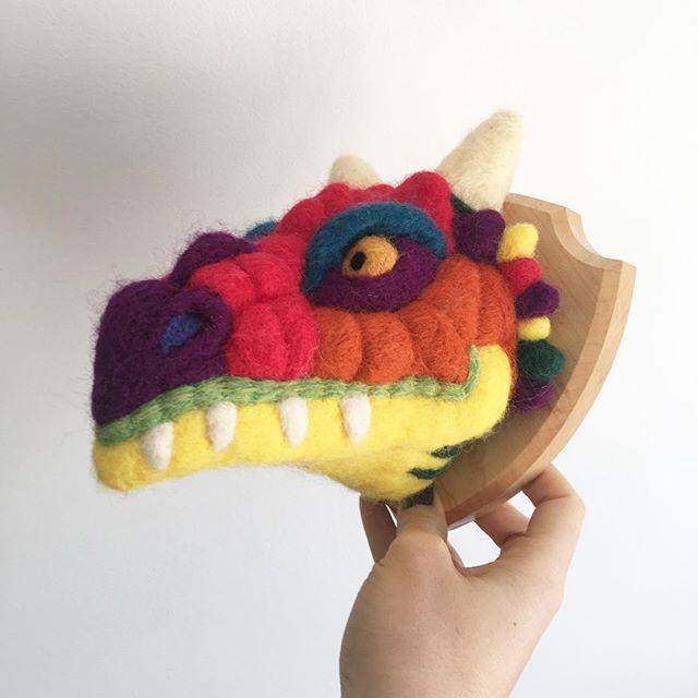 Surprise! It's a dragon! 🐲🐉 #dragon #fauxtaxidermy #nurserystyle #nurserydecor #playroomdecor #playroominspo #dragonart #fantasyworld