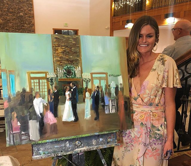 Last night's live wedding painting! What a beautiful night!