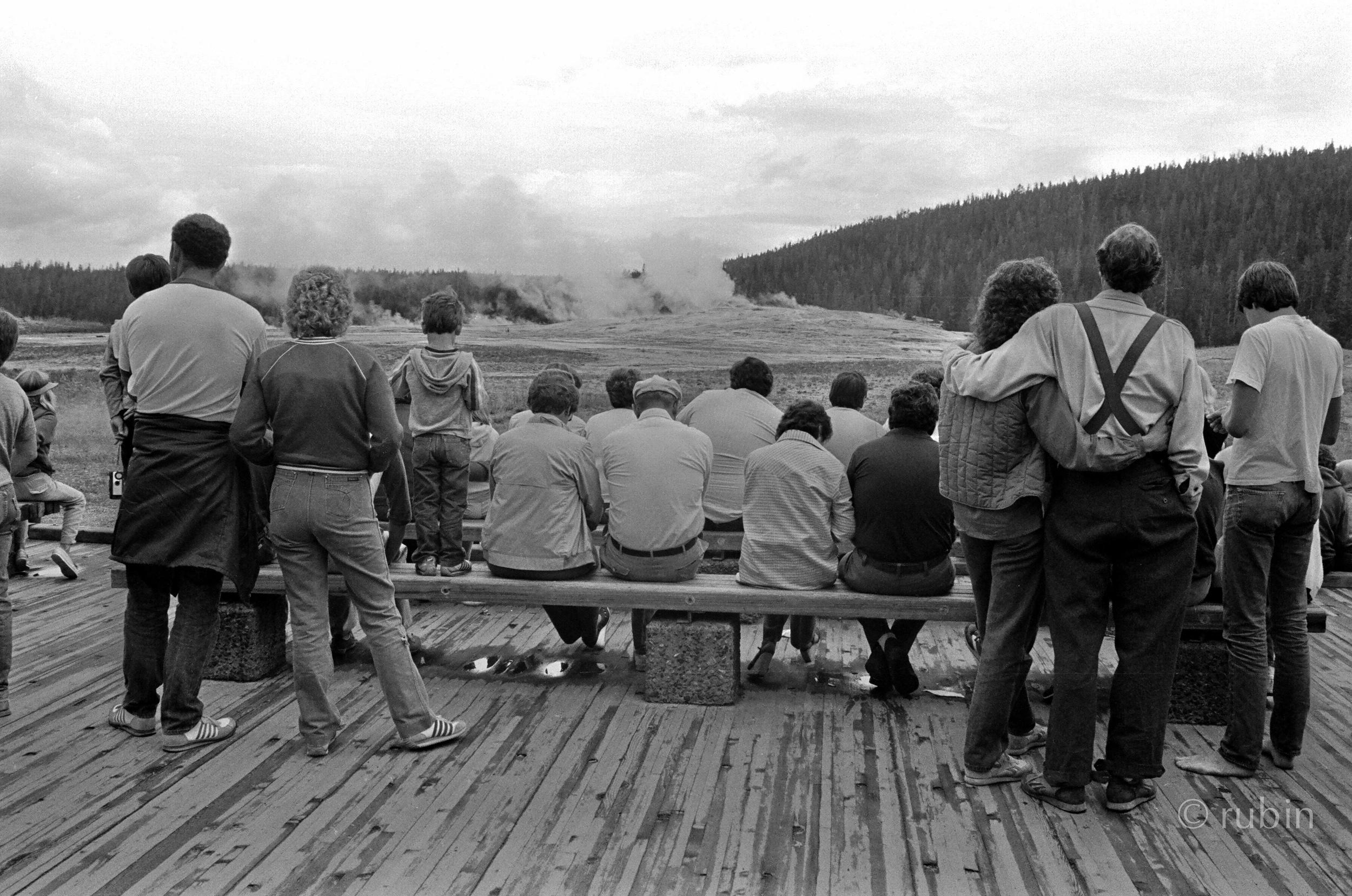 Waiting for Old Faithful, Yellowstone National Park