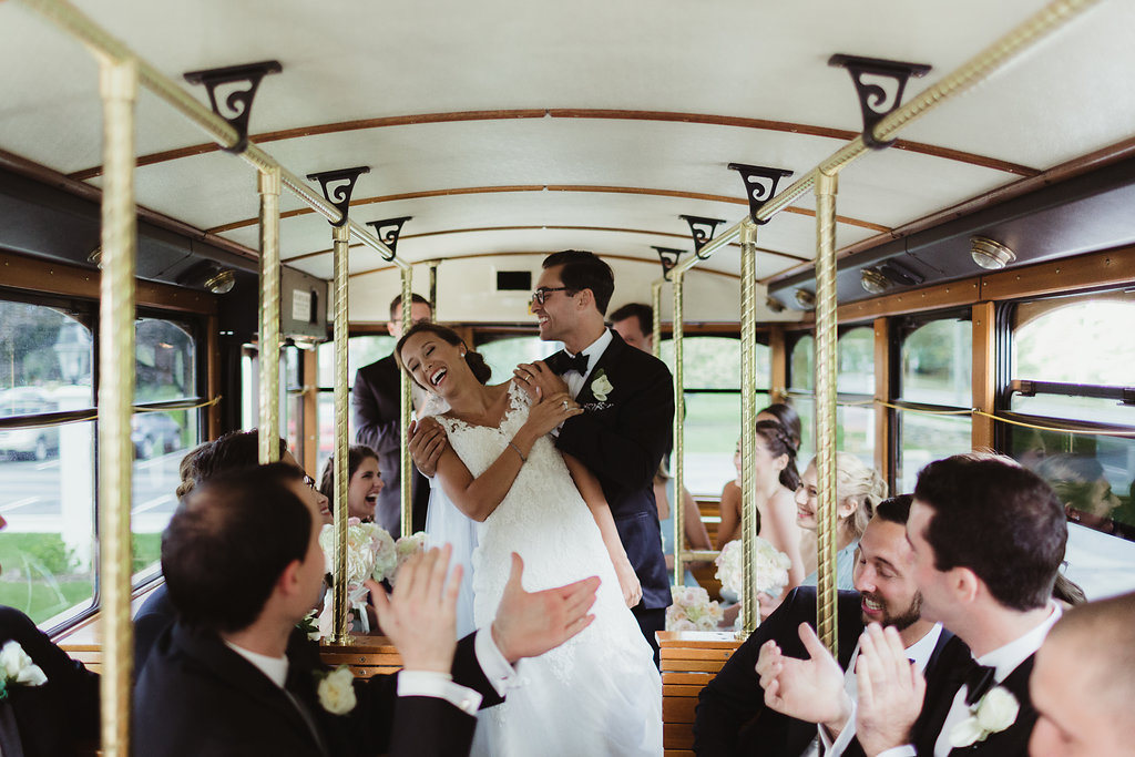 10 Bride and Groom on Wedding Trolley.jpg