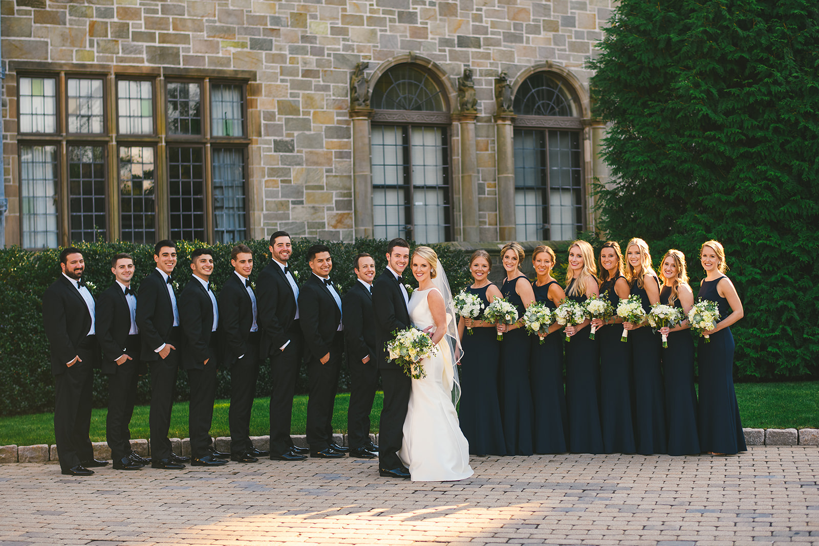 12 bridal part at Bellarmine Hall Fairfield University wedding.jpg