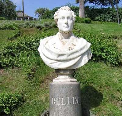A Bellini statue in Catania, Italy