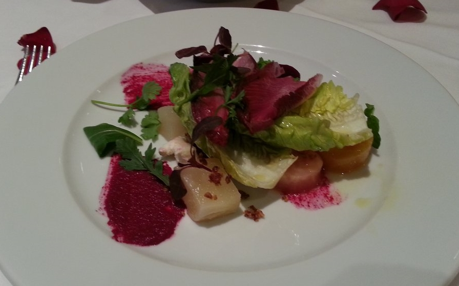 Beet salad at Leatherby's CaféRouge, Costa Mesa