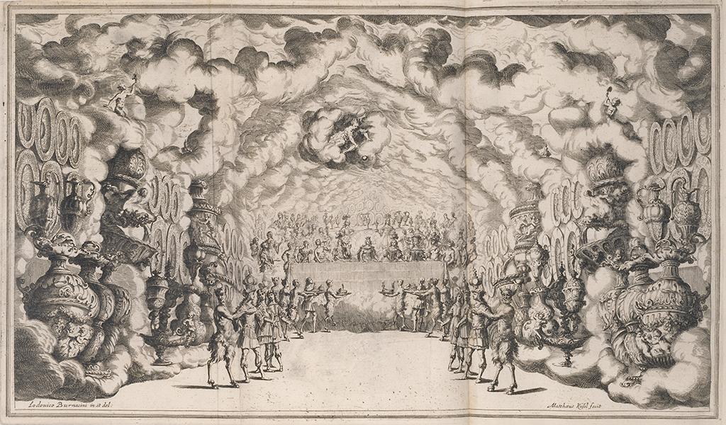 The banquet of the Gods, Mathäus Küsel after Lodovico Ottavio Burnacini, 1668
