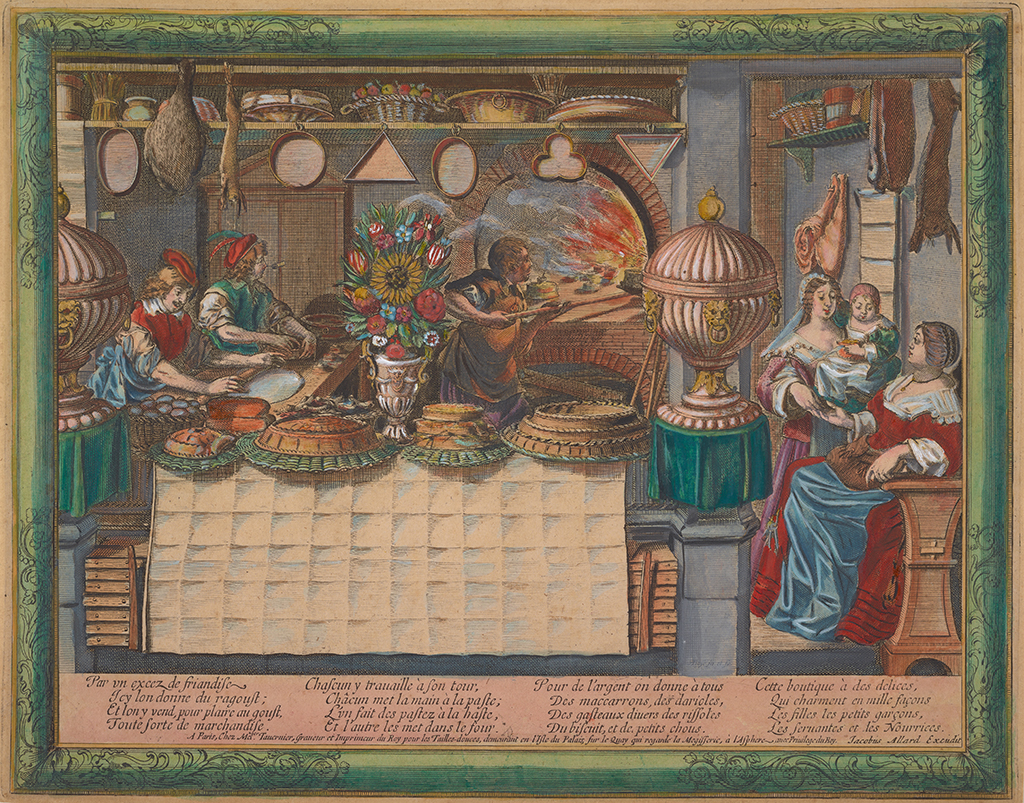 The pastry shop, Abraham Bosse, ca. 1600s