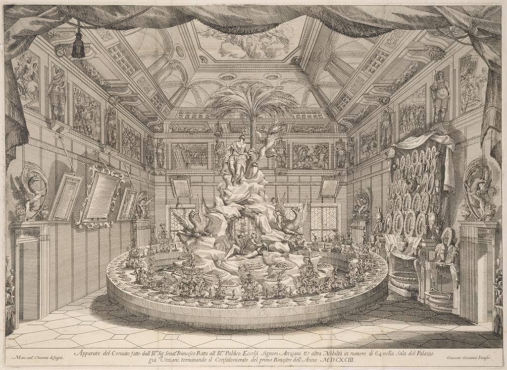 Centerpiece for the feast of Senator Francesco Ratta, 1693