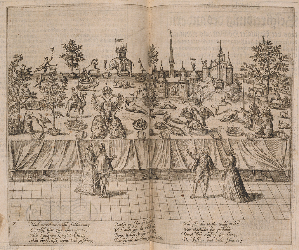 Table with sugar figures for the marriage of Duke of Jülich,1587.