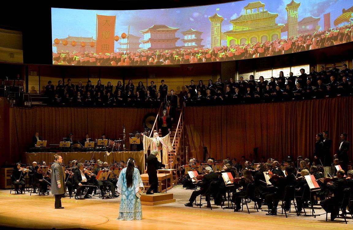 Turandot, Act II, Designed by Eric Einhorn (Photo: Nick Koon)