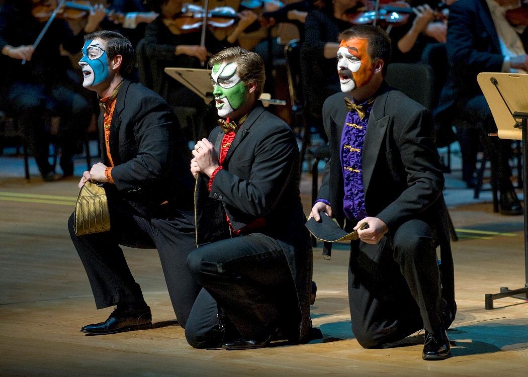 Dan Kempson (Ping), Jonathan Blalock (Pang),David Blalock (Pong) /Photo: Nick Koon