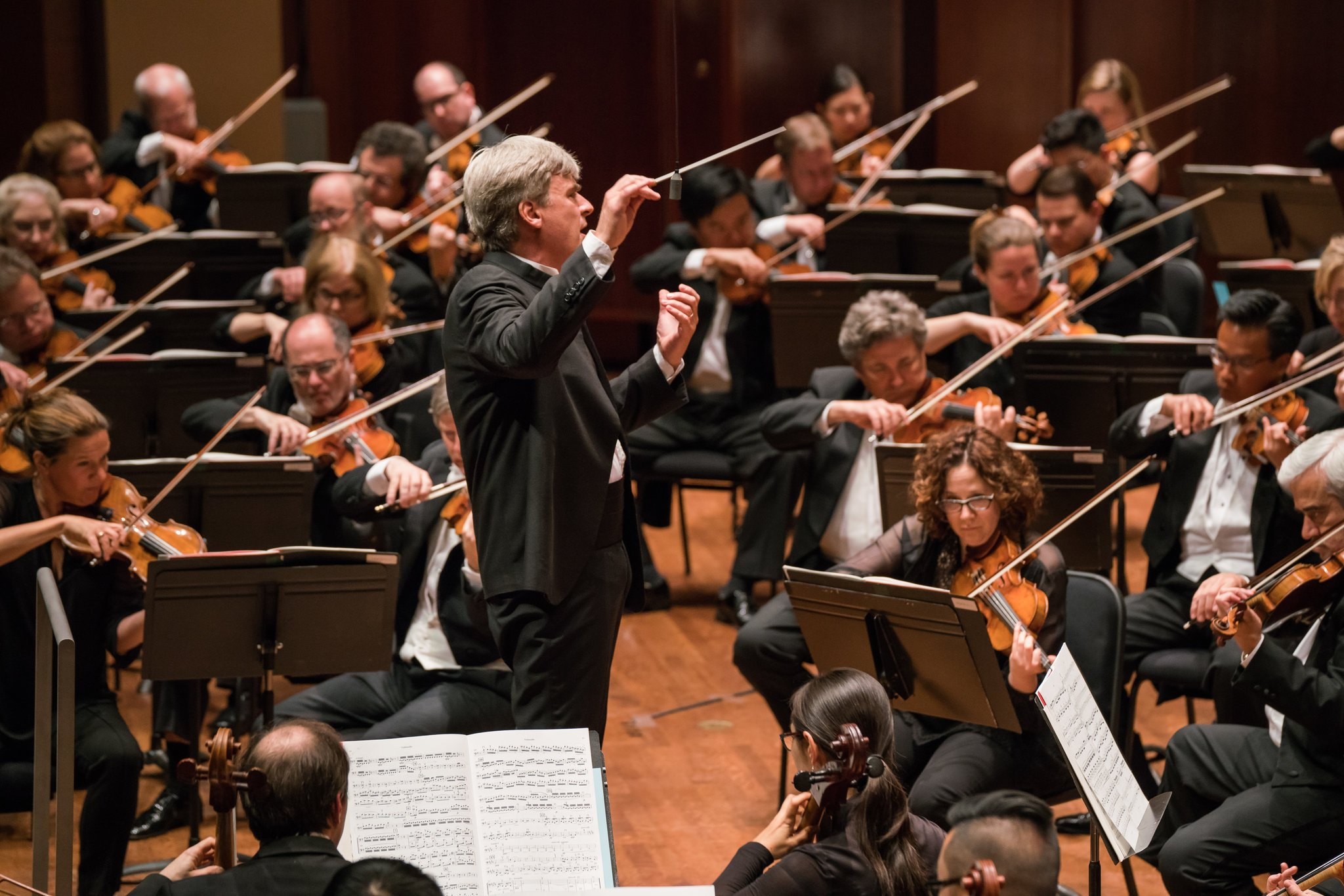 Thomas Dausgaard conducting the Seattle Symphony Orchestra. He has been chosen as its new music director. Credit: Seattle Symphony Orchestra