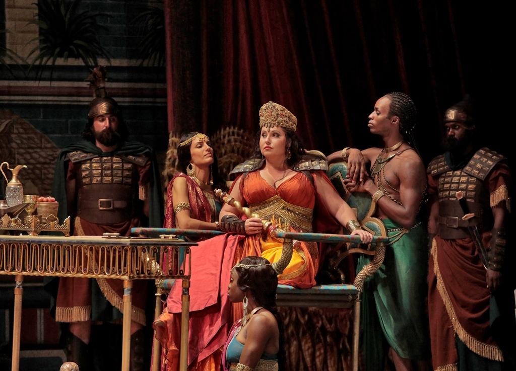 Soprano Liudmyla Monastyrska as Abigaille