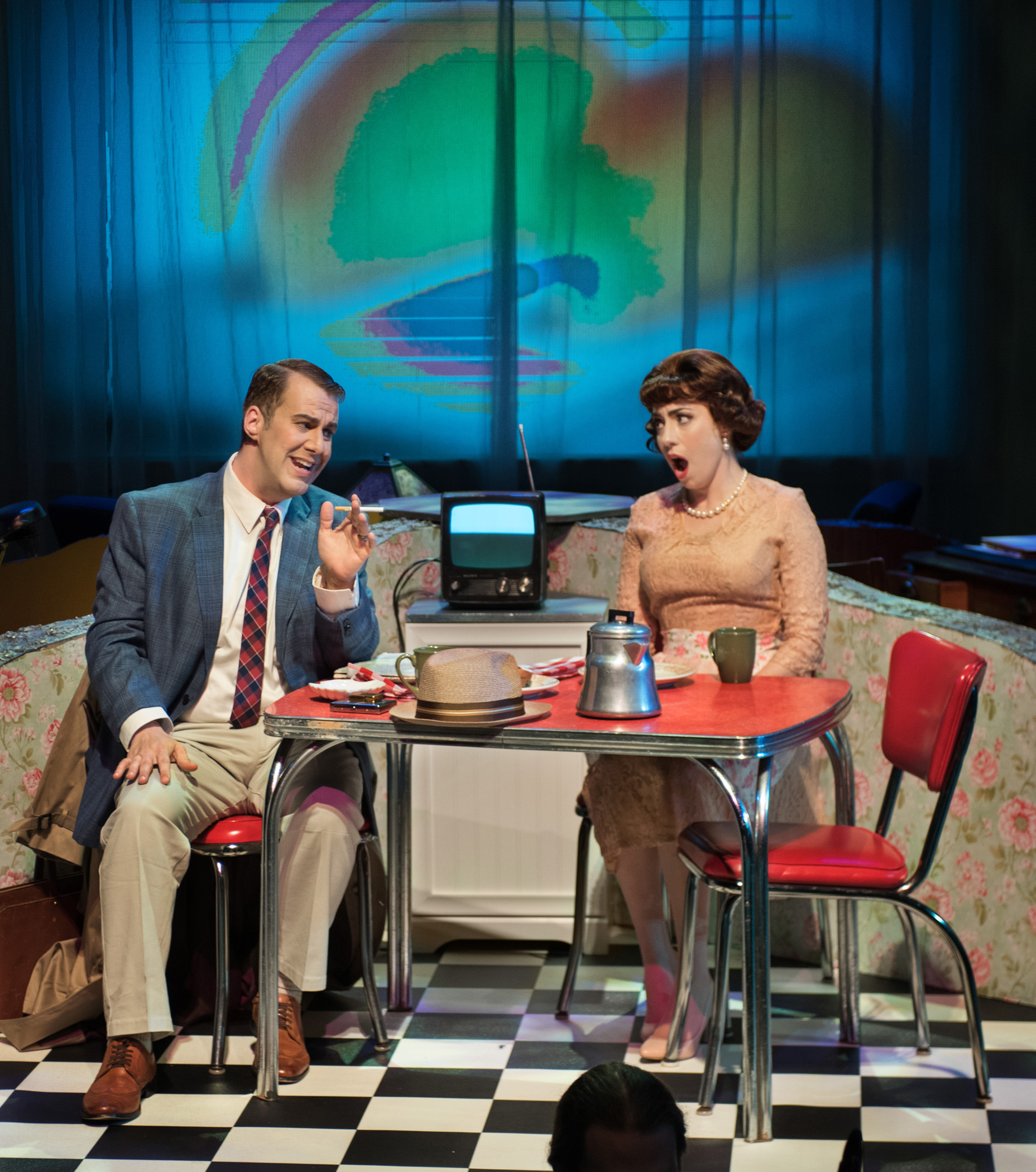 "Renee Rapier and Kyle Albertson in ""Trouble in Tahiti"""