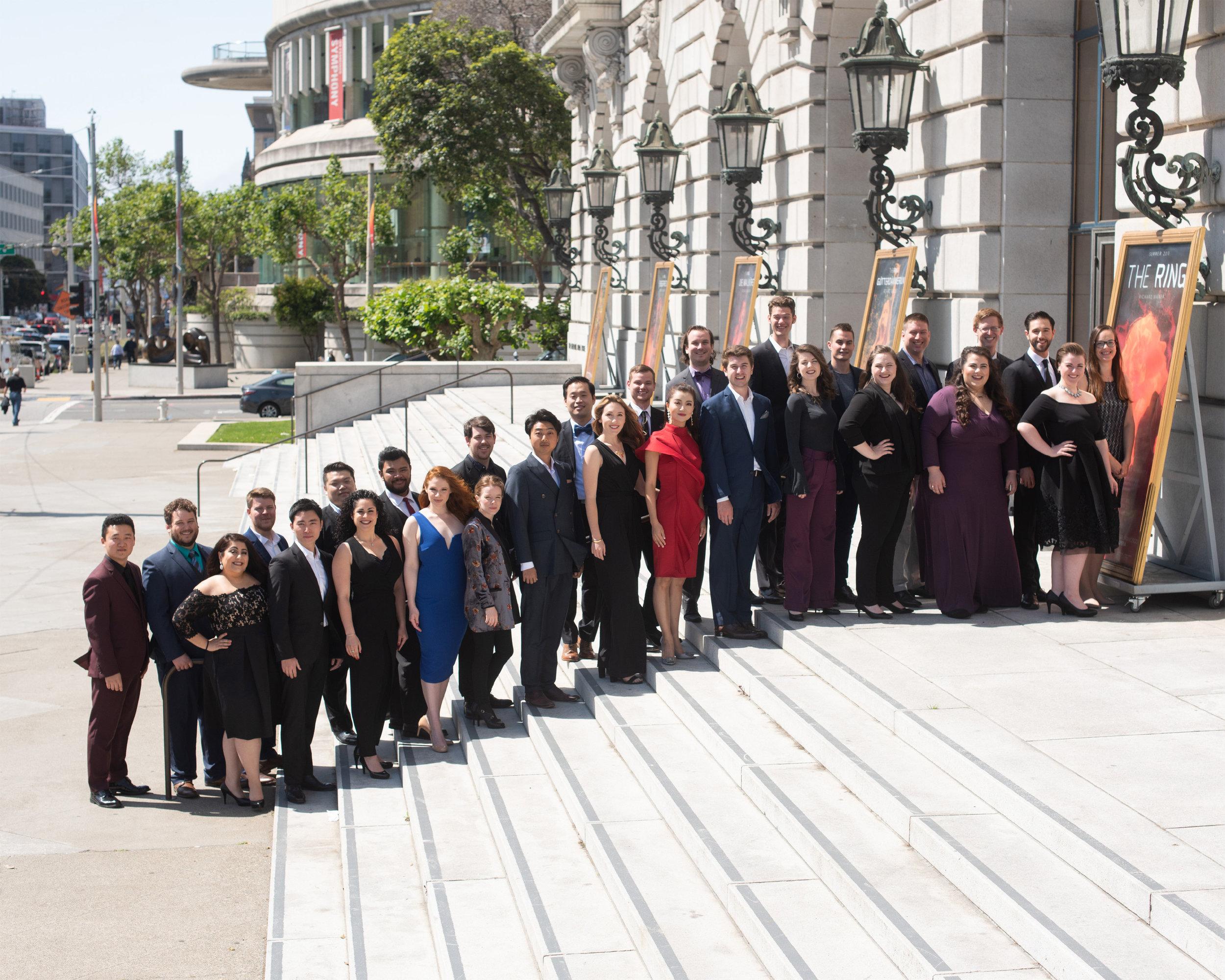 Merola Opera Program, Class of 2018.   Photo credit: Kristen Loken