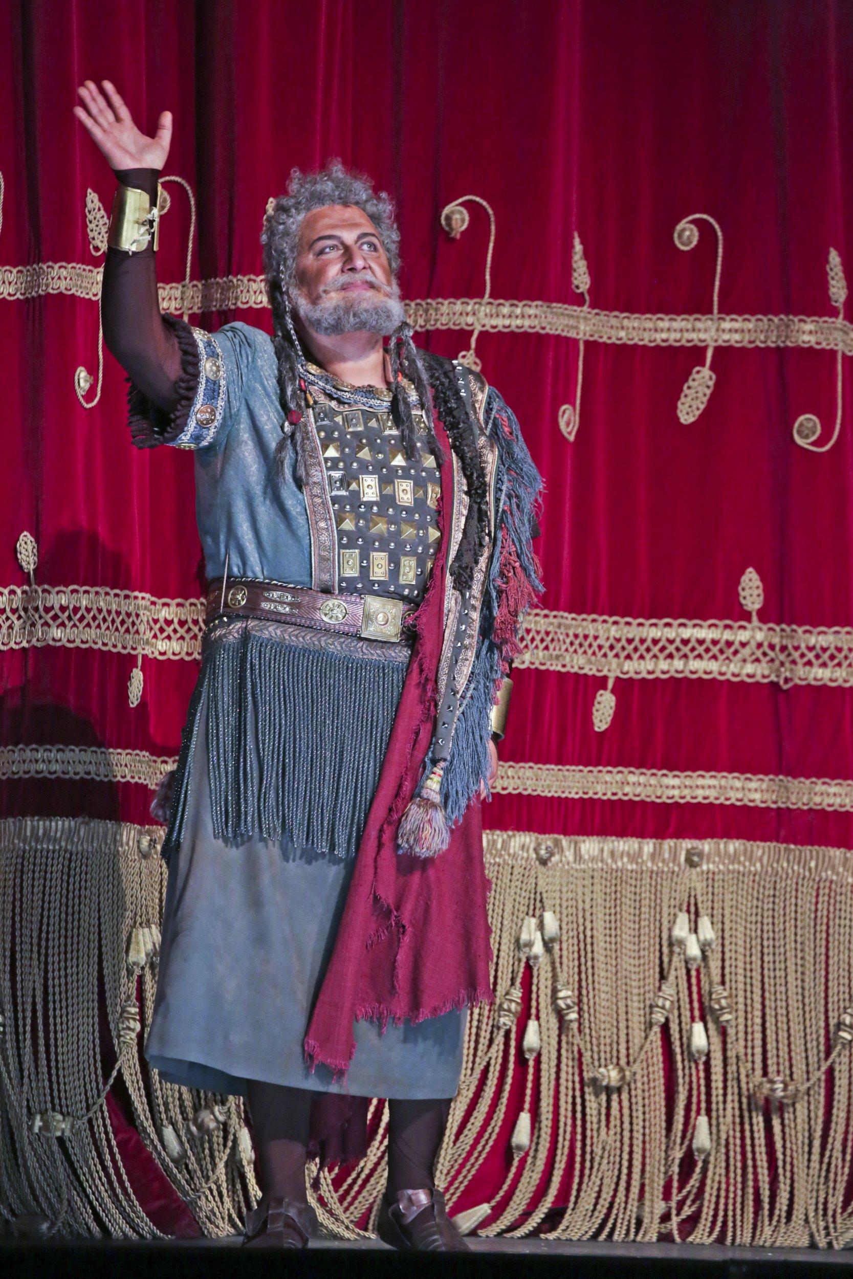 """Amonasro in """"Aida"""" at La Scala 2018, Photo:Brescia e Amisano Teatro alla Scala"""