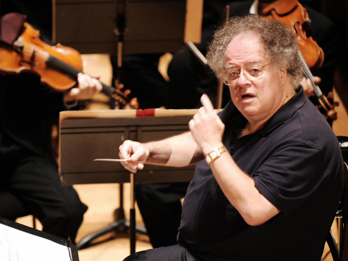 Conductor James Levine, rehearsing with the Boston Symphony Orchestra in Paris in September 2007.   Miguel Medina/AFP/Getty Images