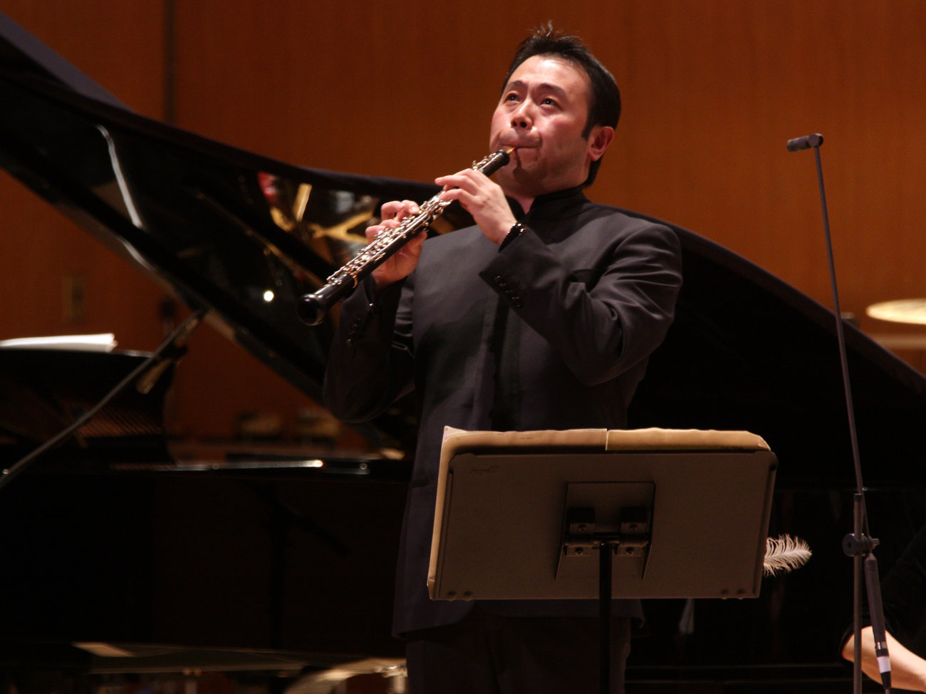 Liang Wang, playing with the New York Philharmonic at New York's Metropolitan Museum of Art in 2013.  Hiroyuki Ito/Getty Images