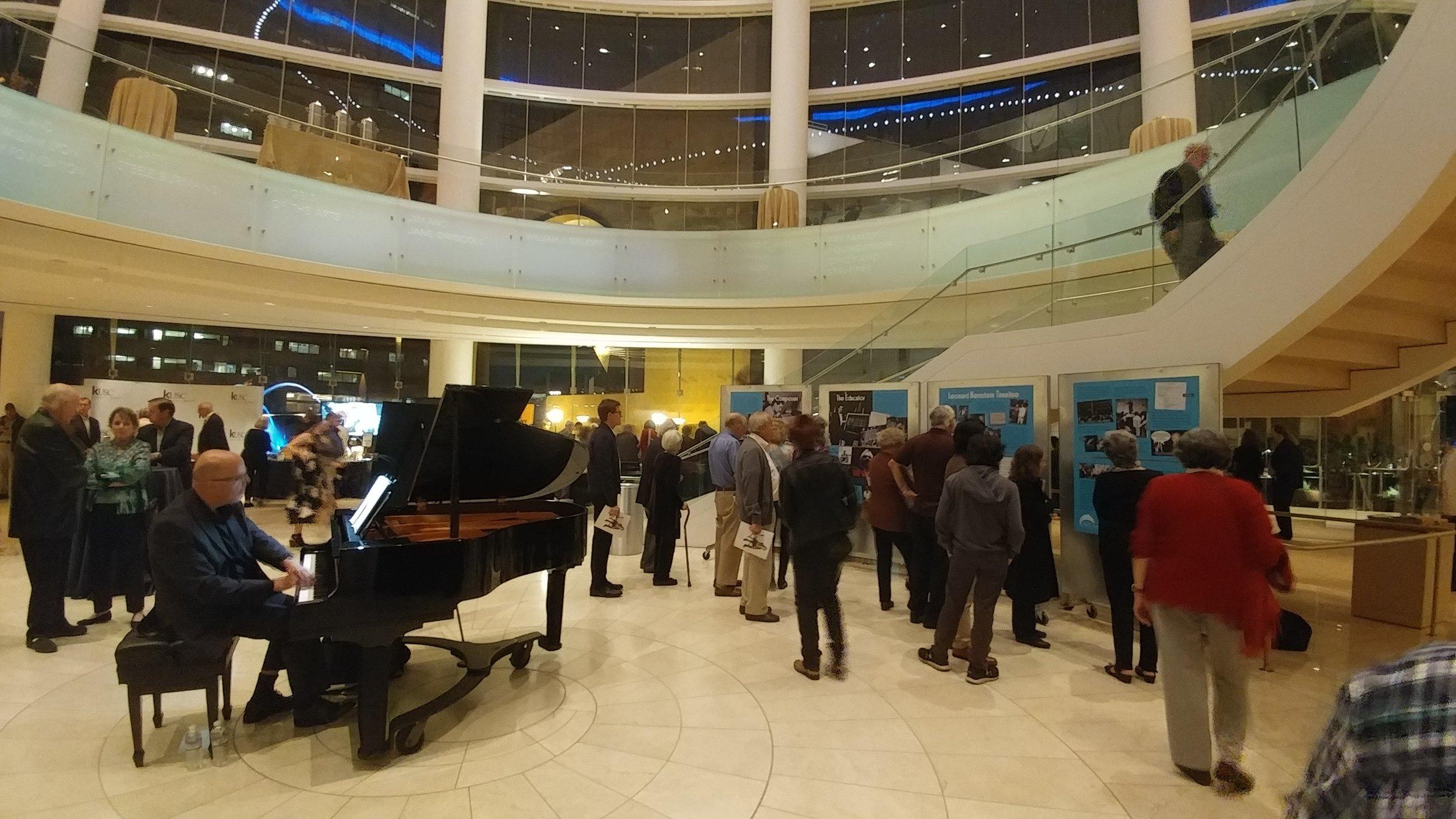 Bernstein exhibit in the lobby (Photo: Truman Wang)
