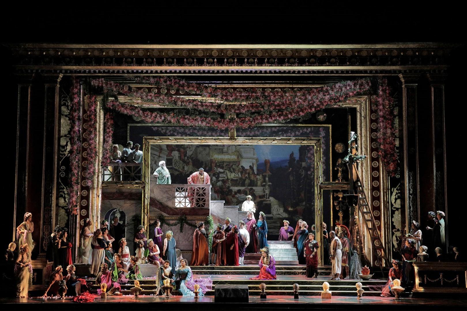 Final scene of LA Opera's  La Clemenza di Tito