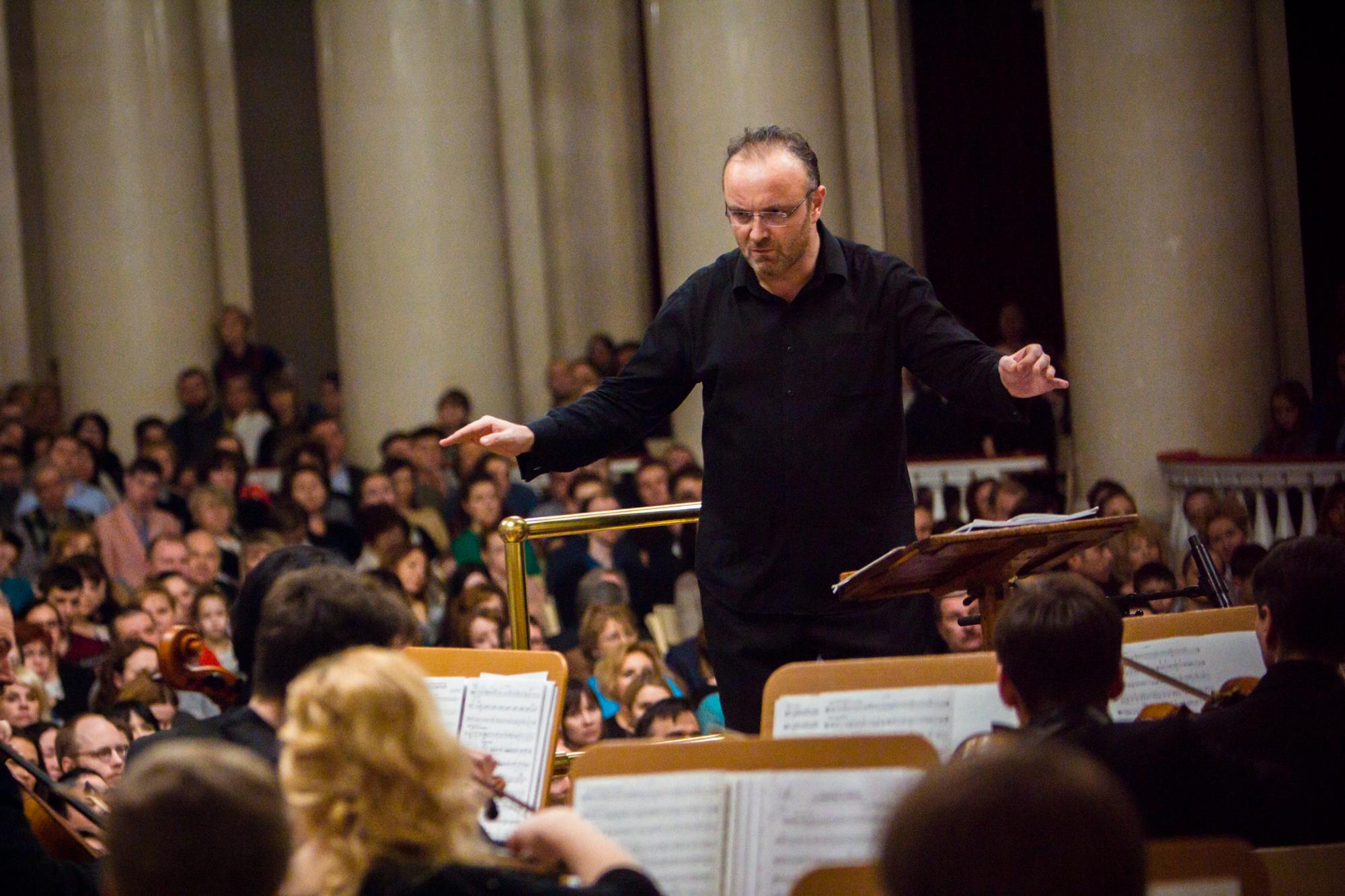 Conductor Anton Gakkel of the St. Petersburg Philharmonic