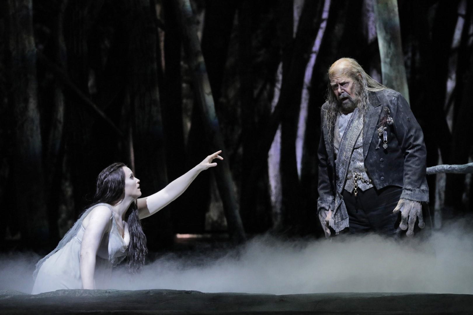 Rachel Willis-Sørensen as Rusalka, Kristinn Sigmundsson as Water Goblin