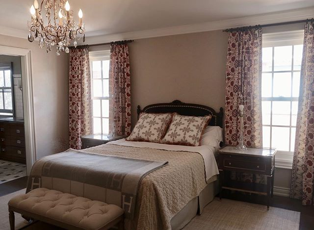 Before and after. A progress shot of a pretty bedroom refresh for a very sweet client. #silvanadaddaziodesign #silvanadaddazio #torontointeriordesign #interiordesign
