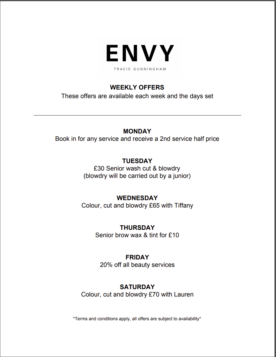 ENVY OFFERS MARCH