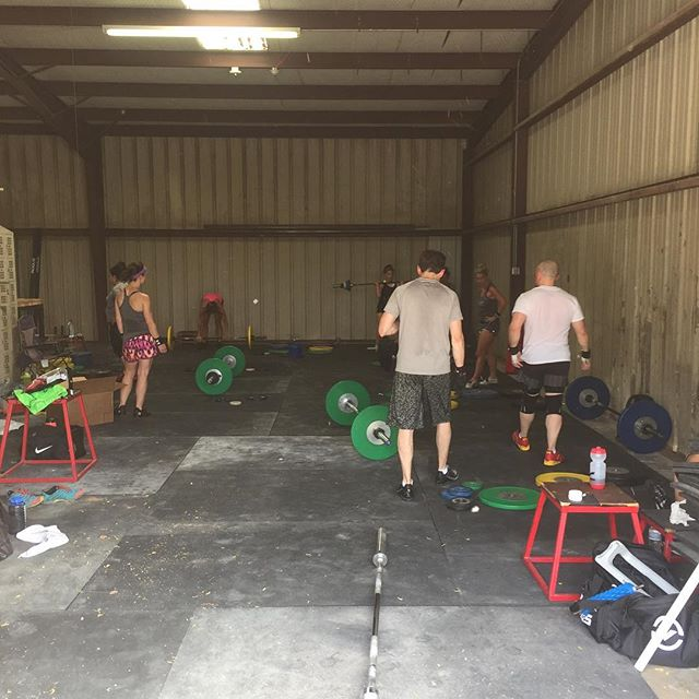 Breaking in the new training hall