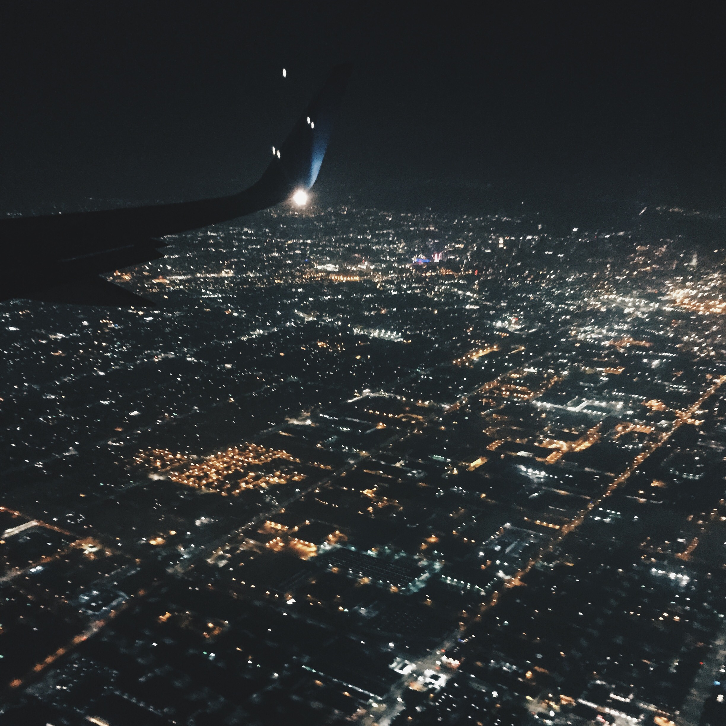 Flying into LAX.