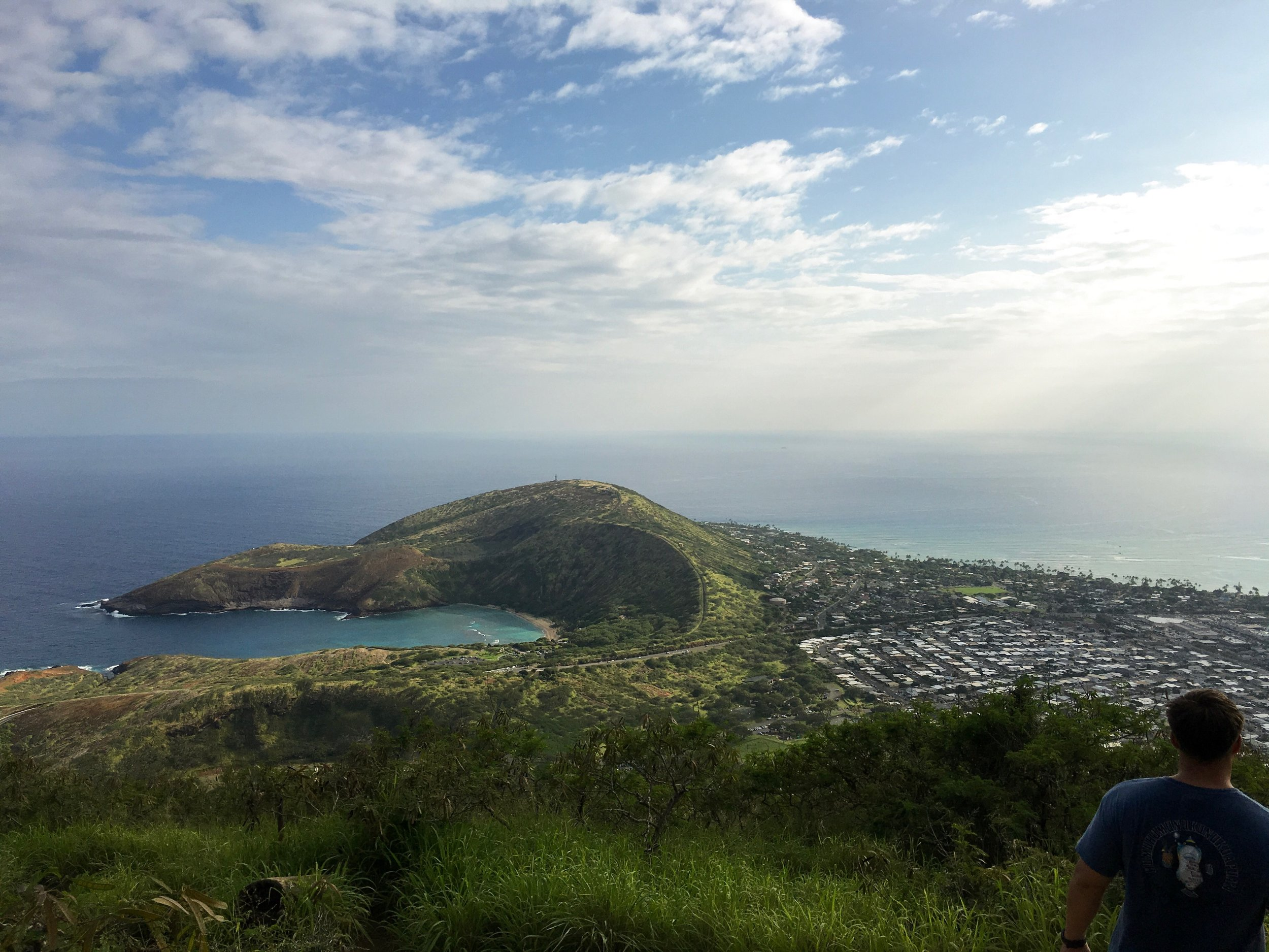 Views from the top of Koko Crater