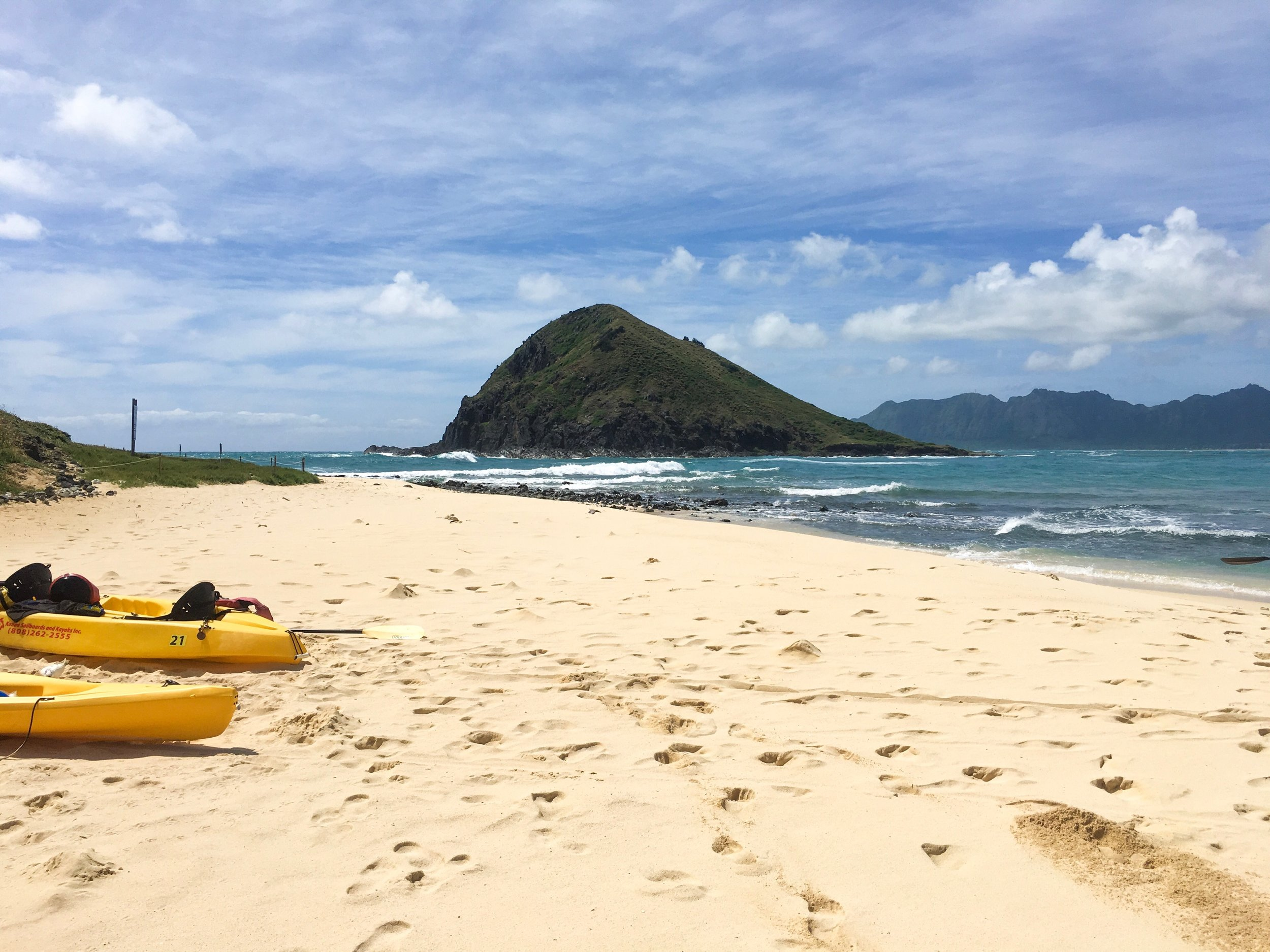 We kayaked out to one of the Mokes (two tiny islands a little less than a mile off the coast of Oahu)