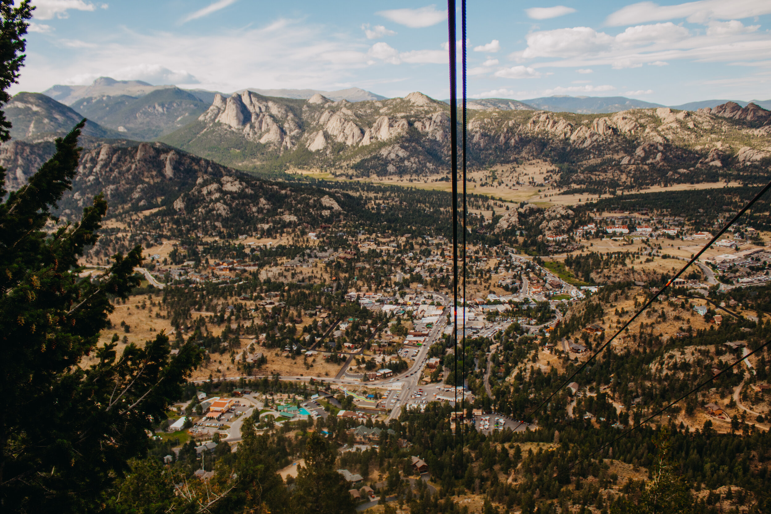 The view of Estes Park on our way back down.