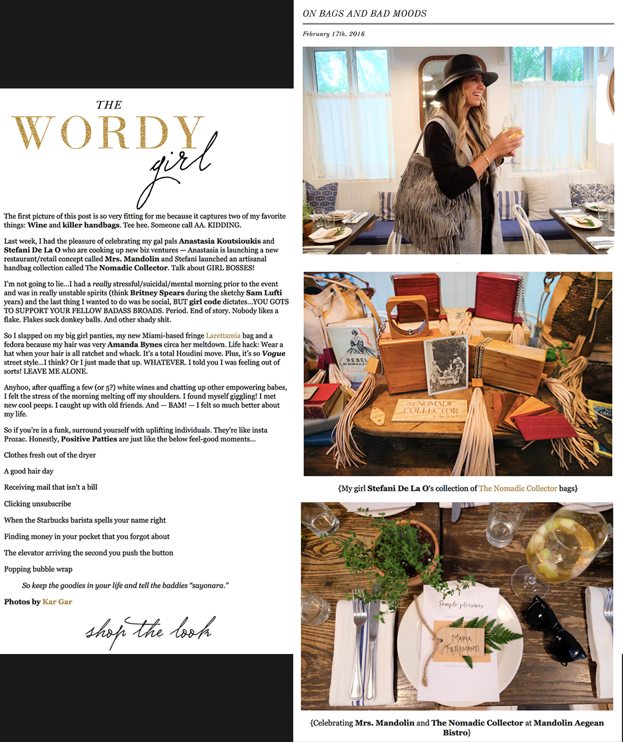 The Wordy Girl _ Nomadic Collector
