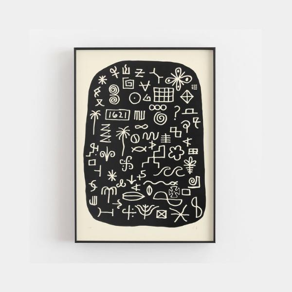 ocean waves letterpress art print