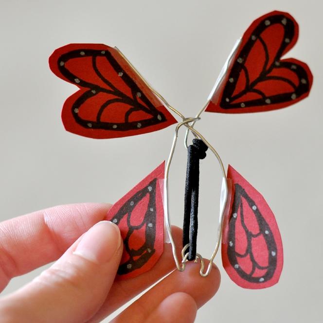 Wind-up butterflies